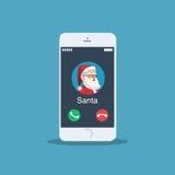 Chiamata di Natale da Santa Claus royalty illustrazione gratis