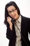 Chiamata di telefono di sorpresa fotografia stock