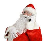 Chiamata di telefono divertente della Santa Fotografie Stock
