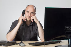 Chiamata di telefono noiosa immagini stock libere da diritti