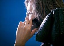 Chiamata di telefono privata Immagini Stock Libere da Diritti