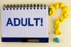 Chiamata motivazionale adulta del testo di scrittura di parola Concetto di affari per l'individuazione dei modi istruire un figli immagini stock libere da diritti