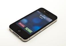 Chiamata ricevuta sul iPhone fotografie stock libere da diritti
