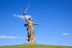 Chiamate della patria del monumento di Volgograd, Russia immagini stock libere da diritti