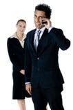 Chiamate di telefono di affari Fotografie Stock