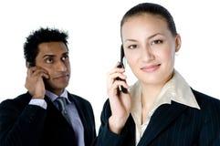 Chiamate di telefono di affari Immagine Stock