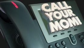 Chiami i vostri genitori della madre della mamma telefono Fotografia Stock
