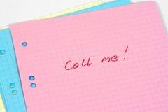 Chiamilo Fotografie Stock