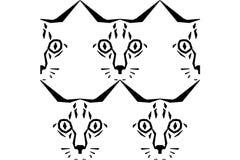 Chiamimi Cat Pattern illustrazione vettoriale