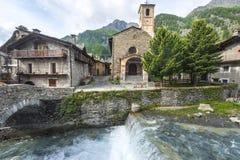 Chianale (итальянка Альпы) Стоковая Фотография