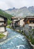 Chianale (alpi italiane) Fotografia Stock Libera da Diritti