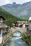 Chianale (alpi italiane) Fotografie Stock Libere da Diritti