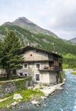Chianale (alpi italiane) Immagine Stock Libera da Diritti