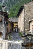 Chianale (alpi italiane) Fotografia Stock