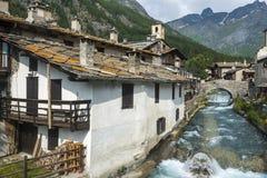 Chianale (alpi italiane) Immagini Stock