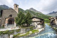 Chianale (alpi italiane) Immagine Stock