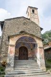Chianale (alpi italiane): chiesa Fotografia Stock