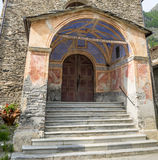Chianale (alpi italiane): chiesa Immagini Stock