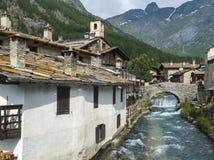 Chianale (Italian Alps) Stock Photo