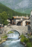 Chianale (Italian Alps) Stock Photography