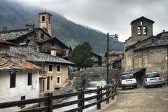 Chianale - Pontechianale στοκ φωτογραφία με δικαίωμα ελεύθερης χρήσης