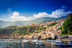 Chianalea di Scilla, fishing village in Calabria. Italy stock images
