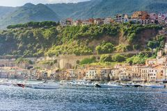 Chianalea di Scilla, fishing village in Calabria, Italy. Focus on the central part royalty free stock photography