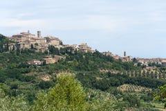 chiancianoliggandepanorama tuscany arkivfoton
