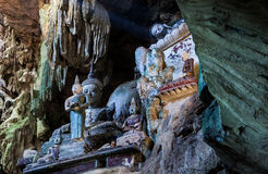 Chiang Dao Cave Temple‎ (WAT THAM CHIANG DAO) Chiang Dao Cave Temple, Thailand. Chiang Dao Cave Temple‎ (WAT THAM CHIANG DAO) he Chiang Dao Caves penetrate Royalty Free Stock Photography