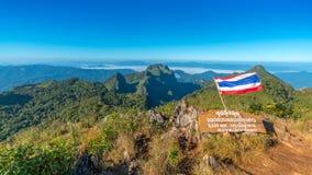 Chiang Dao Mountain, Chiang Mai, Tailandia Fotografia Stock Libera da Diritti