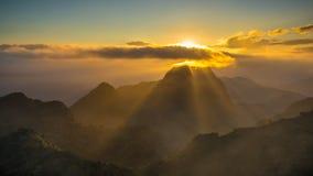 Chiang Dao Mountain, Chiang Mai, Tailandia Immagini Stock Libere da Diritti