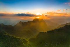 Chiang Dao Mountain, Chiang Mai, Tailandia Immagine Stock