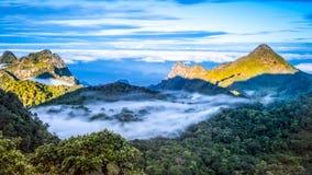 Chiang Dao Mountain Chiang Mai, Thailand Royaltyfri Foto