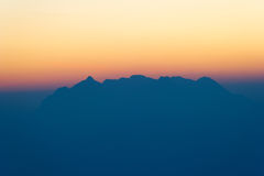 Chiang Dao Mountain in Early morning Royalty Free Stock Image