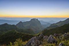 Chiang Dao mountain scene Stock Photos