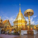 chiang doi mai phra suthep泰国wat 图库摄影