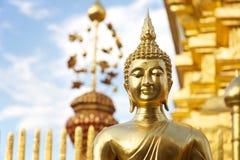 chiang doi mai phrasat suthep泰国wat 免版税库存图片