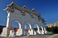 Chiang Kai Shek Memorial gate. Chiang Kai Shek memory gate in Taipei, Taiwan royalty free stock photo