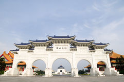 Chiang Kai-shek Memorial Hall. The Chiang Kai-shek Memorial Hall and freedom square stock photography