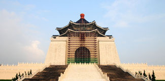 Chiang Kai Shek Memorial Hall. Take photo at taiwan Chiang Kai Shek Memorial Hall in July 2007 this photo is Chiang Kai Shek Memorial Hall reconstructure Royalty Free Stock Image