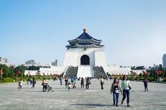 Chiang Kai-shek Memorial Hall i Taipei - Taiwan Royaltyfri Fotografi