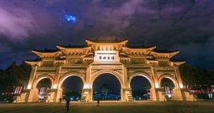 Chiang Kai-shek Memorial Hall mit voll nachts stock footage