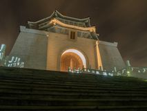 Chiang Kai-Shek memorial hall at night, Taipei, Taiwan stock image