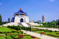 Chiang Kai Shek memorial hall. On a sunny day stock photos