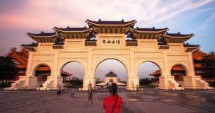 Chiang Kai-Shek Memorial Hall in Taipeh stock video footage