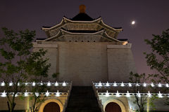 Chiang Kai-Shek Memorial Hall Taipei Moon Royalty Free Stock Image