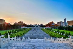 Chiang Kai-shek Memorial Hall, Taipei, Taiwan royaltyfria bilder