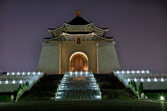 Chiang Kai-Shek Memorial Hall Taipei Taiwan Night. Chiang Kai-Shek Memorial Monument Hall Taipei Taiwan at Night stock photo