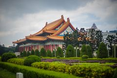 Chiang kai shek. Memorial hall in taiwan stock photo