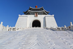 Chiang kai shek memorial hall in taiwan. With clear blue sky stock photography